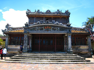 Hue Emperial City - One of many buildings in the process of restoration.