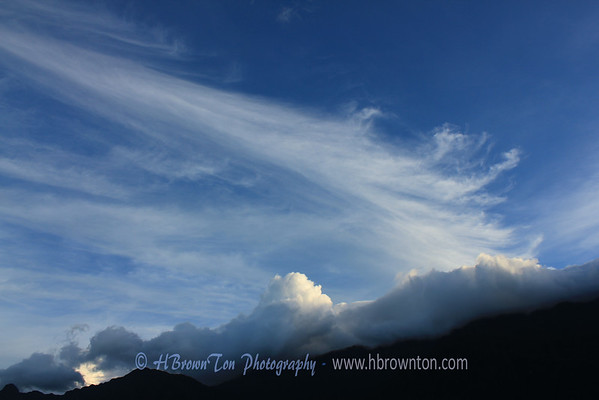 Clouds skimming mountainj tops by Sapa