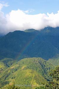 Rainbow in distance