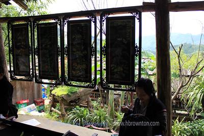 Knitting Hmong clothing