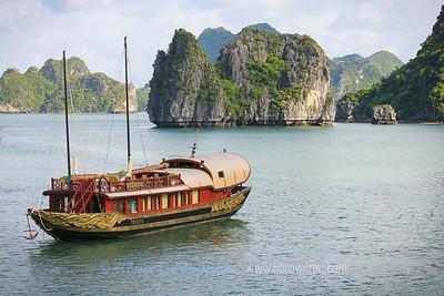Navigating through Halong Bay