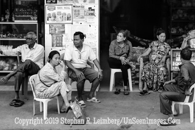 Sitting in Store - B&W Copyright 2018 Steve Leimberg UnSeenImages Com _Z2A7378