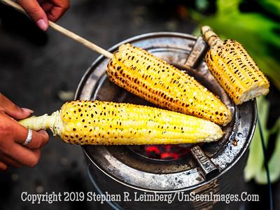 Roasting Corn on Bridge - Copyright 2018 Steve Leimberg UnSeenImages Com _DSF9814