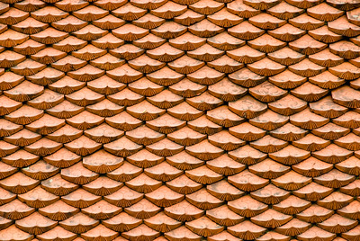 Roof Tiles-Temple of Literature-Hanoi-Vietnam
