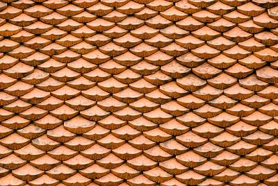 Roof Tiles-Temple of Literature-Hanoi-Vietnam