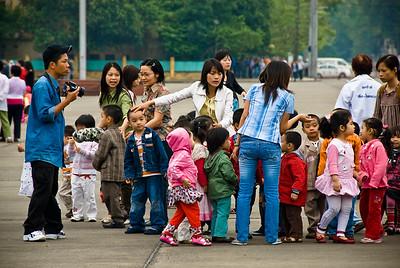 School children visiting Ho Chi Minh Tomb-Hanoi-Vietnam