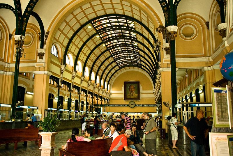 Interior-Post Office-Ho Chi Minh City-Vietnam