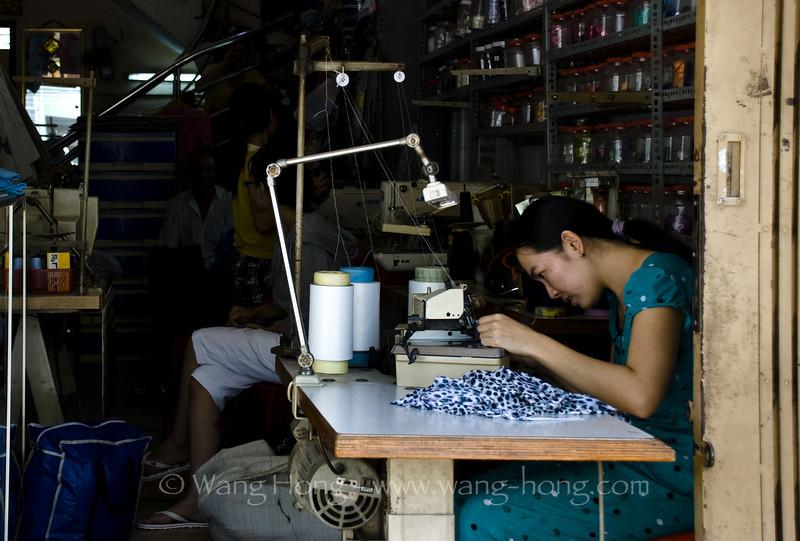 Tailor's shop, in community around Giac Vien Pagoda