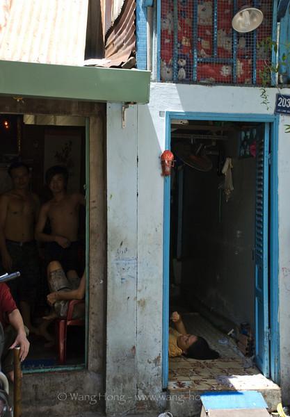 In community around Giac Vien Pagoda