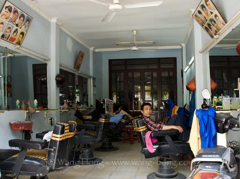 Barbour's shop, in community around Giac Vien Pagoda