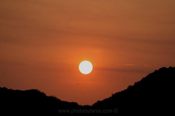 Sunset at Cat Ba Island. Cat Ba Island, Vietnam