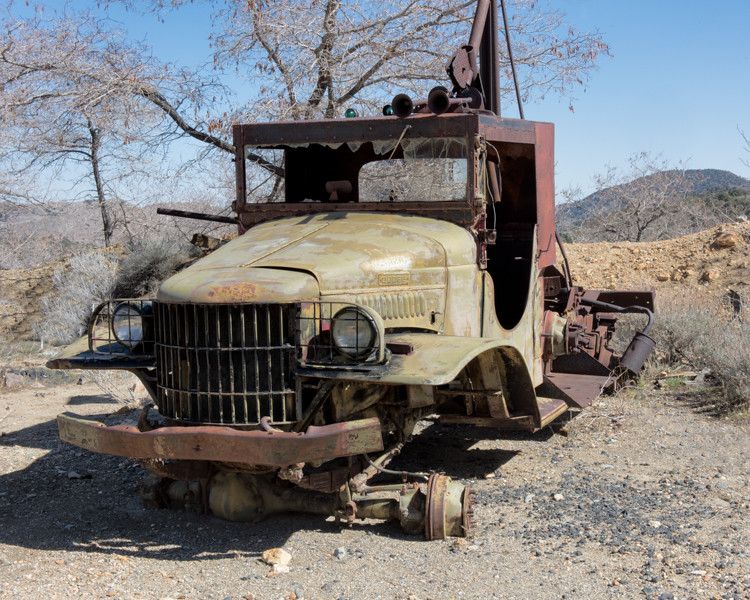 Old truck at the Comstock Mine.