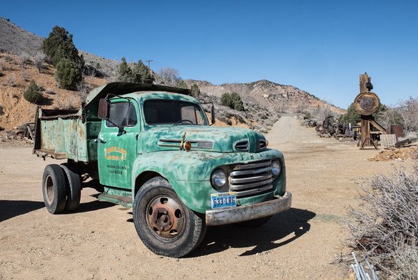 Old truck at the Chollar Mine in Virginia City.  It still runs.