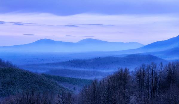 Blue Ridge Mountains, viewed from I-64 near Afton, Virginia