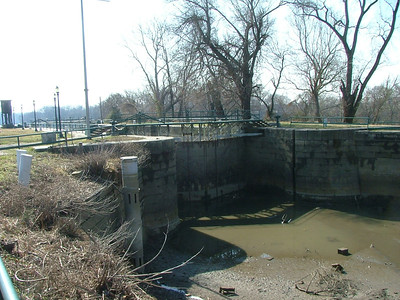Lock system into the now un-used James river canal. Al's sea scout ship used to travel the canal and into the James