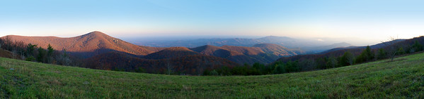 Panoramic view of Mt. Pleasant from the top of Cold Mountain.