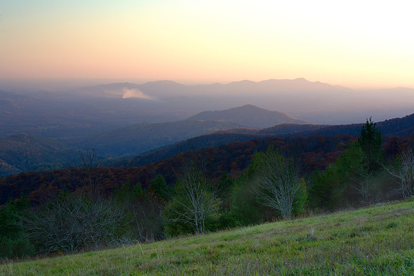 Beginning of the sunset from Cold Mountain.