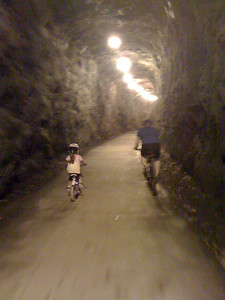 The tunnel was so cool, we went through it twice