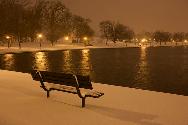Bench in the Snow. Richmond, VA. 2009
