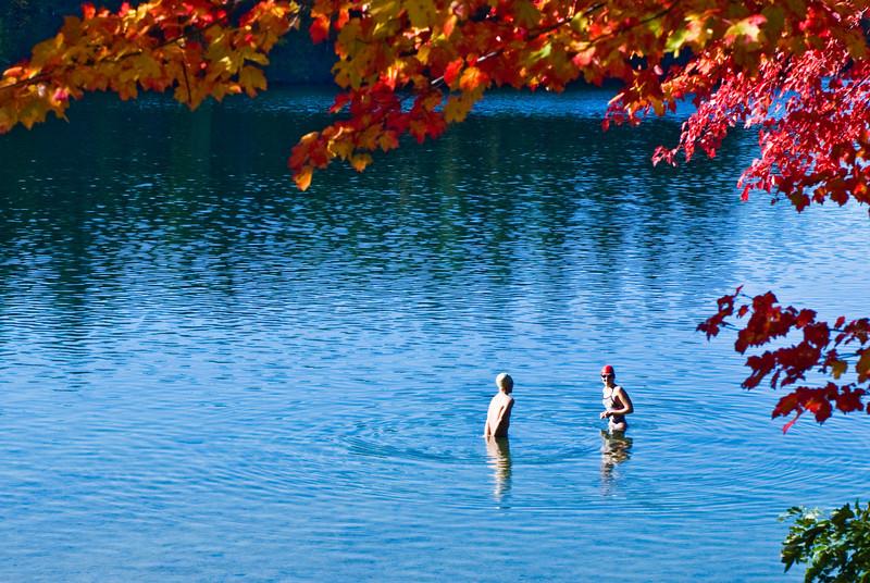 A fall day swim