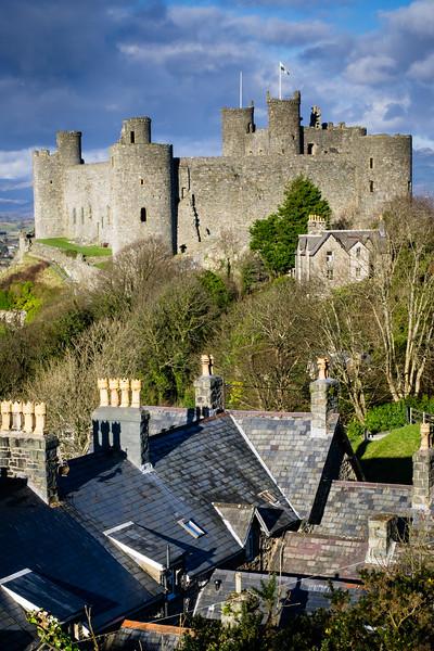 Harlech Castle, built 1262