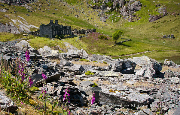 The barracks block at Cwmorthin quarry near Blaenau Ffestiniog, Snowdonia, Wales