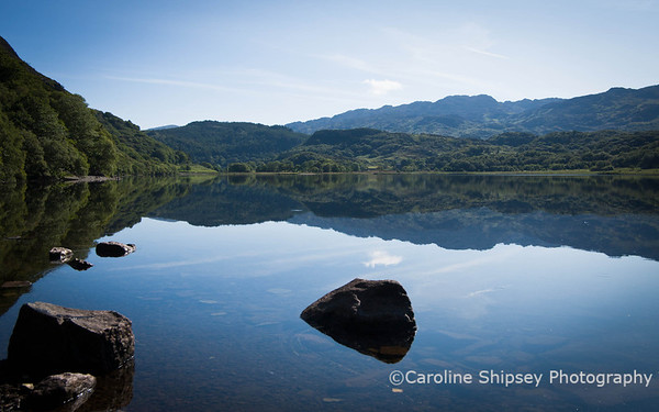 Llyn Dinas - I couldn't resist stopping as I drove along the A498 towards Capel Curig.   The stillness and tranquility of the scene was tempting me to stay and explore, but unfortunately I didn't have time  on this occasion.