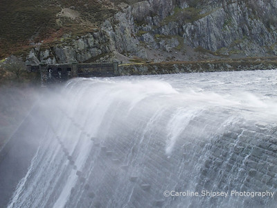 Caban Coch dam in the Elan Valley - 25th November 2011