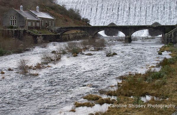 Caban Coch dam in the Elan Valley - January 28th 2012
