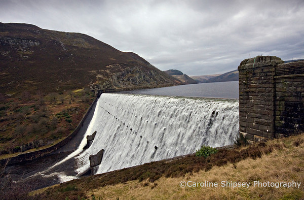 Caban Coch dam, Elan Valley - 30th January 2009