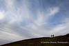 Gorllwyn, Elan Valley near Rhayader - Duncan and Ryan disappearing over the ridge
