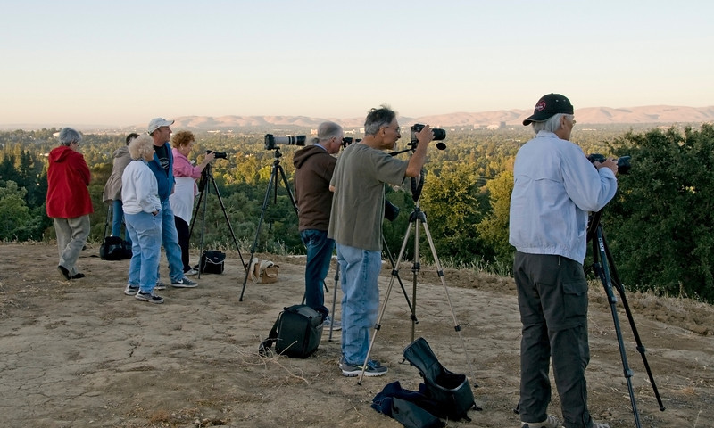 Rossmoor and Contra Costa Camera Club photographers at Dinosaur Hill Park, Pleasant Hill, CA - August 13, 2011