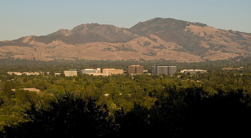 Walnut Creek CA with Mt Diablo behind