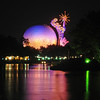 EPCOT sphere viewed from the World Showcase