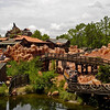 Big Thunder Mountail Railroad viewed from Tom Sawyer Island