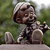 Pinocchio bronze statue