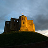 Warkworth Castle, late evening sun, May 09