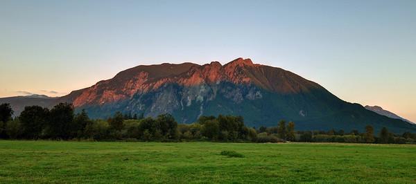 Mid-Sunset on Mount Si