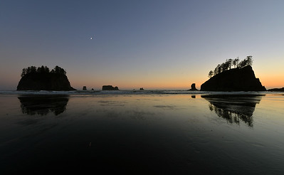Moon over Second Beach, La Push