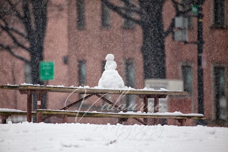 Lone Snow Man..
