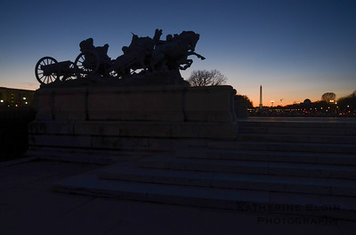 """Artillery"" at the Ulysses S. Grant Memorial - Jan. 19, 2014"