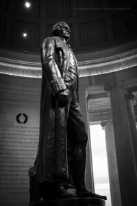 Statue of Thomas Jefferson inside the Jefferson Memorial. - April 2013