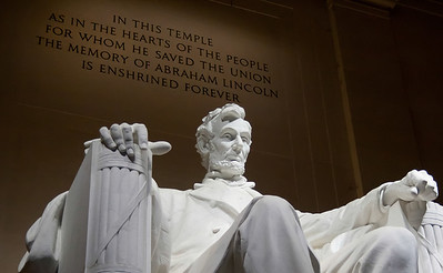 Enshrined Abraham Lincoln may not have been a founding father, but his efforts in our country's darkest hour was just as remarkable.