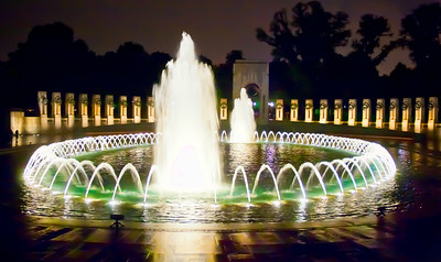 World War II Memorial The World War II Memorial is a beautiful set of fountains in Washington D.C.