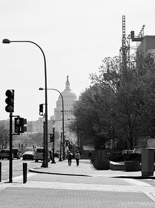 Just off the Metro - looking at the Capitol Dome