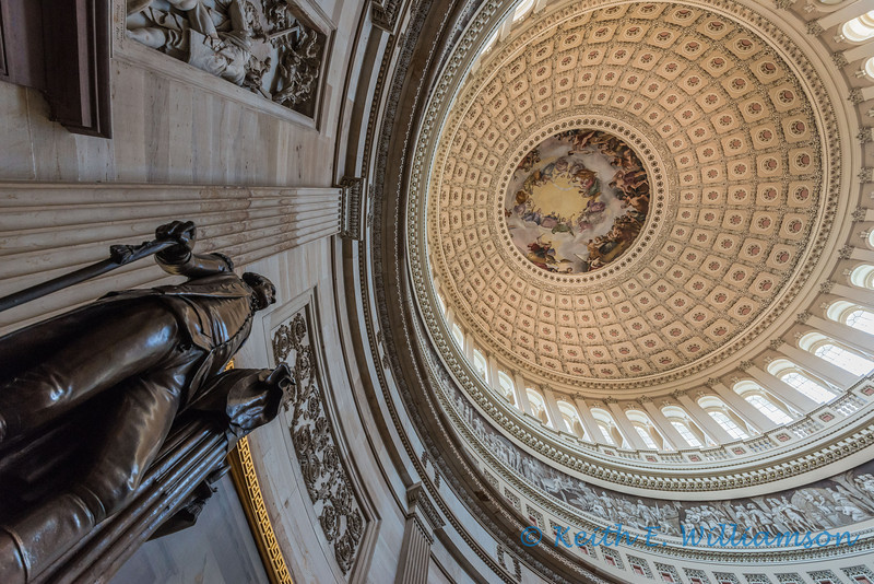 George Washington, looking at George Washington, in the Capital Rotunda