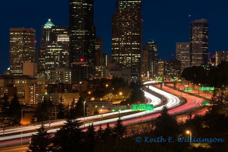 I-5 and Seattle Skyline