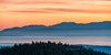 Sunset over the Olympic Mountains, from Mount Constitution