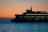 Ferry ride at sunset on Puget Sound