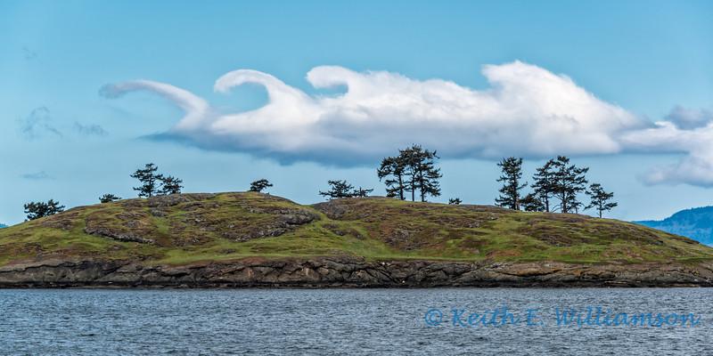 Clouds over San Juan Islands